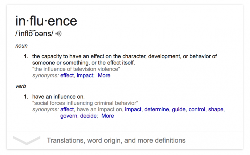 influence_definition